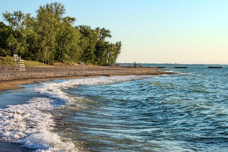Contact - View Of The Shoreline In Erie Pennsylvania
